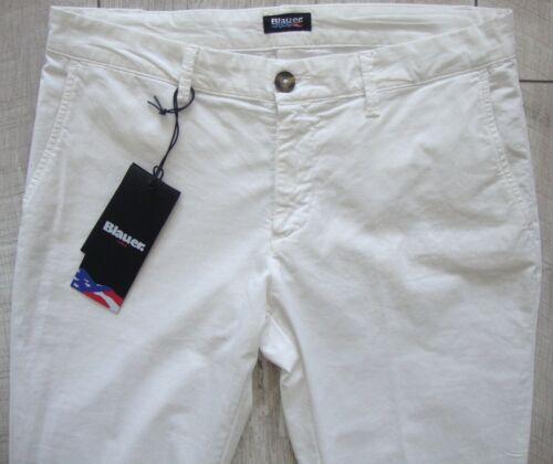Lungo etichetta con Blue Usa Nuovo 27 Donna Bianco Pant Pantalone Taglia qv4PwEH
