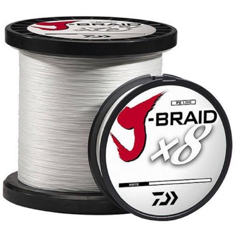 Daiwa J-Braid X8 Braid Fishing Line - 3300 Yards, 100 Lb., White