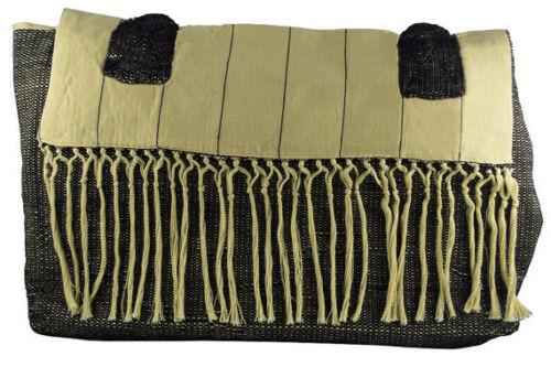 Guatemalan Black Champagne Fair Trade Handwoven Tote Large Shoulder Hand Bag