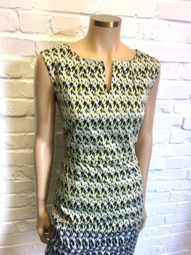 100 Jacqui 10 e Cotton Dress Shift Printed Uk Rrp 149 55q1O