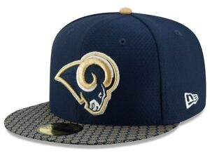 Los-Angeles-LA-Rams-New-Era-59Fifty-NFL-OnField-Sideline-Fitted-Hat-Cap-7-1-2