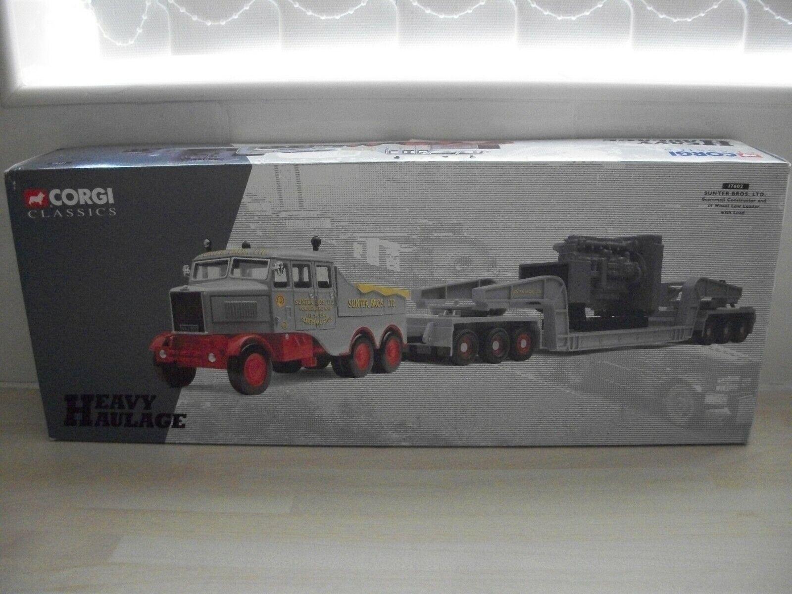 Corgi 1 50 Scale 17602 Scammell Constructor & 24 Wheel Load - Sunter Bros