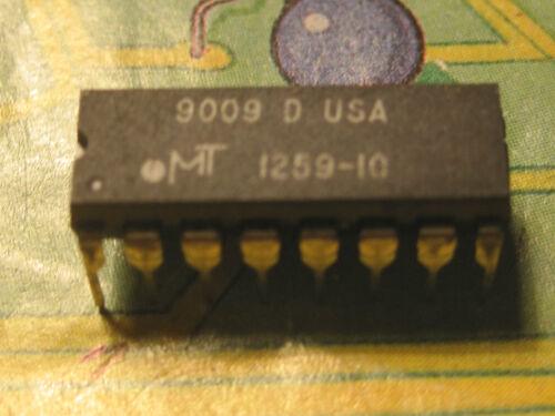 MT1259-10 256Kx1 CMOS DRAM PAGE MODE  MICRON