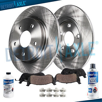 2009 For Ford Flex Front Disc Brake Rotors and Ceramic Pads
