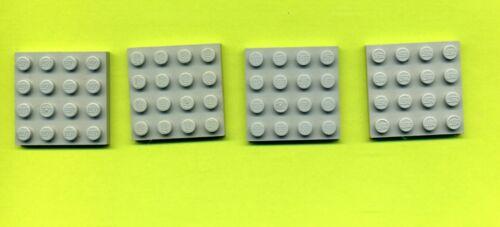 Rot Lego-- 3031-- Grundplatte Bauplatte 4 x 4 4 Stück