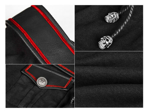 Pin Gothic Punkrave Boot Top Fashion Militär Oberteil up ausschn Lolita Offizier f6p6Xq