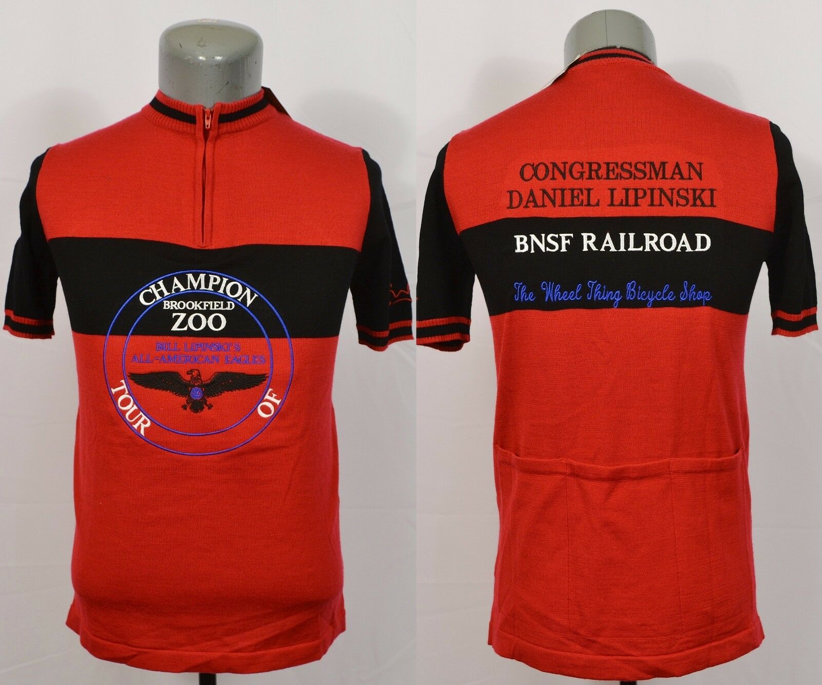 Earth Wind and Rider Bill Lipinski All American Eagles Cycling Jersey Champion S