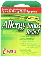 4 Pack Lil Drugstore Products Allergy Sinus Relief 6 Count Each