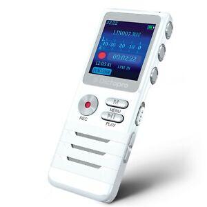 DICTOPRO X100 Digital Voice Activated Recorder Portable Mini Tape Dictaphone 8GB