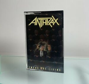 Anthrax Among the living Cassette Tape Island Records 1987 Play Tested