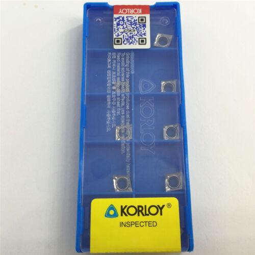 10Pcs Korloy CCGT060202-AK H01 CCGT21.50-5-AK H01 CNC Aluminum Inserts
