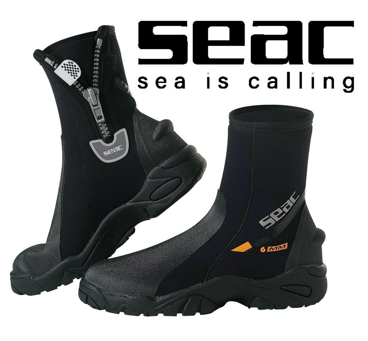SEAC PRO Heavy Duty subacquei Watersport Stivaletti in neoprene con cerniera suola HD