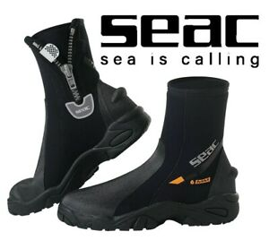 SEAC-Pro-HEAVY-DUTY-Divers-WATERSPORTS-Neoprene-Ankle-Boots-with-Zip-HD-SOLE