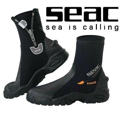 Seac Pro Heavy Duty plongeurs Watersports Néoprène Cheville Bottes Avec Fermeture Éclair HD Semelle
