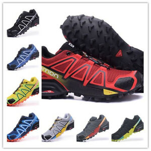 San Francisco 87cb7 82599 Details about Salomon Speedcross 4 Hommes Noir Trail Running Route  Chaussures De Sport Baskets