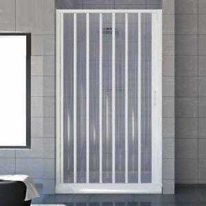 Porta doccia a soffietto per box doccia nicchia 90 cm profilo riducibile fino 80 ebay - Porta doccia nicchia prezzi ...