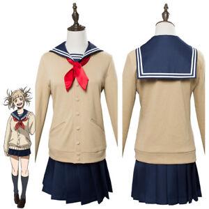 My Hero Academia Himiko Women Outfit JK Sailor Cosplay Costume Uniform Coat Suit