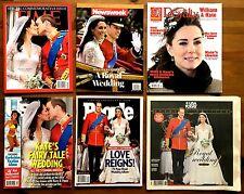 Prince William & Kate Middleton Magazine Lot-Time,Us,Newsweek,Royalty,People,USA