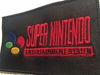 Snes Super Nintendo Black Patch 3 X 5 Inches Embroidered Mario Zelda Nes