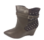 thumbnail 4 - Womens Ladies Coffee Faux Leather High Wedge Heel Shoes Ankle Boots Size 8 New
