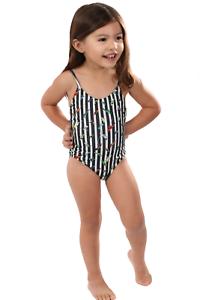 Gianine Bikini Cute Birds /& Stripes Kids 2 Piece Swimsuit w//Ruffles for Girls /& Toddlers