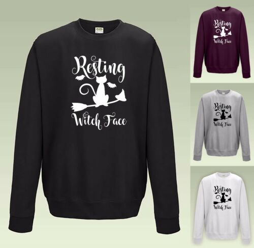 Resting Witch Face SWEATSHIRT JH030 JUMPER SWEATER COOL Funny Halloween