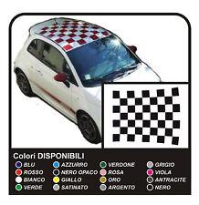 adesivi TETTO per FIAT 500 CAPOTE SCACCHI grandi scacchiera stickers top