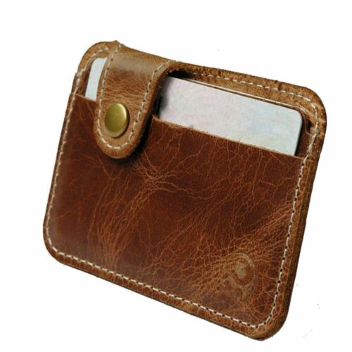 Front Pocket Wallet Genuine Leather Money ID Credit Card Slim thin Holder