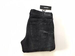 $228 Diesel Damen Grupee Super Slim Skinny Jeans Schwarz 0679b Größe w28-l32