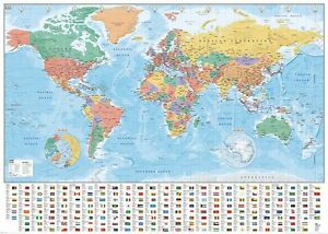World map flags and facts map of the world gpp51070 giant poster image is loading world map flags and facts map of the gumiabroncs Image collections