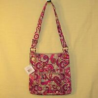 Vera Bradley - Hipster - Paisley Meets Plaid - Cross Body Purse Adjustable Strap