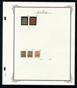Eritrea-Early-Stamp-Collection
