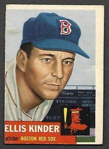 1953 Topps #44 Ellis Kinder Red Sox SP! Short Print TOUGH CARD VG-EX
