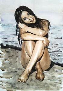 Limited-edition-Signed-Print-from-original-watercolor-painting-figure-female