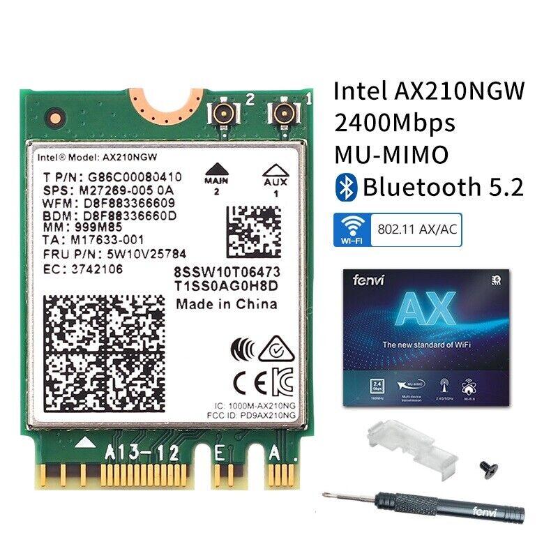 Intel WiFi 6E AX210 Mini PCI-E wifi card 3000M802.11AX BT 5.2 PCIe Network Card