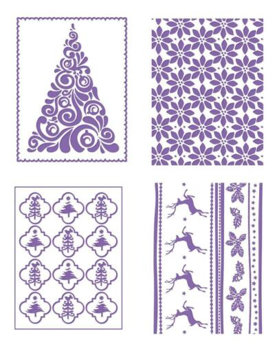 "1 COUTURE CREATIONS Prägeschablone EMBOSSING FOLDER /""Christmas Collection/"" B6"