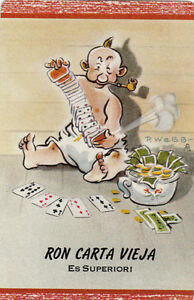 Vintage-Swap-Playing-Card-1-SINGLE-ADVERT-RON-CARTA-VIEJA-BY-P-WEBB