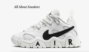 Nike-Air-barrage-bas-034-Sommet-Noir-Blanc-034-Junior-Unisexe-Baskets-Limited-Stock