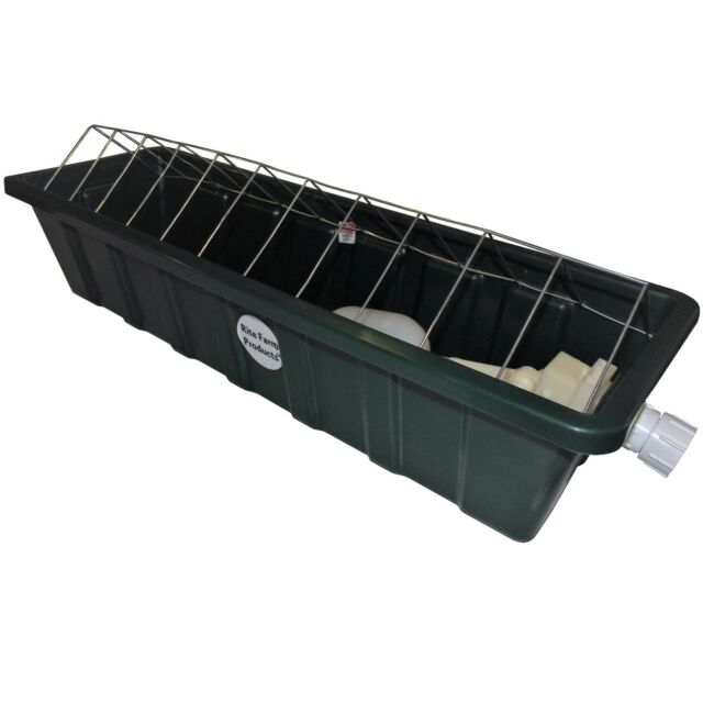 RITE FARM PRODUCTS 24 INCH LONG AUTOMATIC CHICKEN WATERER TROUGH POULTRY DRINKER