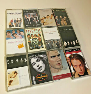 Take-That-Gary-Barlow-Robbie-Williams-Mark-Owen-Original-Cassettes-Joblot