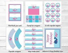 Pink Whale Nautical Printable Birthday Party Package