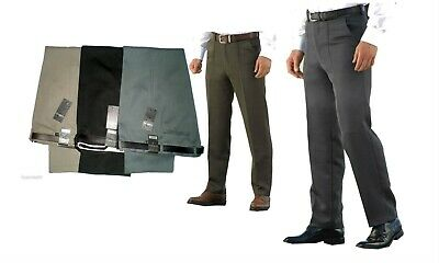 MENS CLASSIC CAVALRY  TWILL TROUSERS  SOFT HEAVY//THICK POLYESTER FABRIC COLOURS