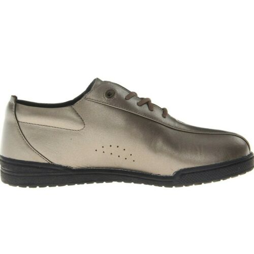 Propet Womens Firefly Walking Shoes Comfort Leather W3606 Pewter New in Box