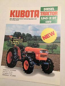 KUBOTA Diesel 4WD Compact Tractor L345II DT 4WD 1983 Vintage Sales Brochure - <span itemprop='availableAtOrFrom'>-, United Kingdom</span> - KUBOTA Diesel 4WD Compact Tractor L345II DT 4WD 1983 Vintage Sales Brochure - -, United Kingdom