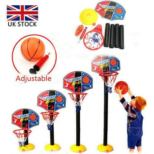Kids Portable Basketball Stand Children Backboard Hoop Net Set Garden Game Toys