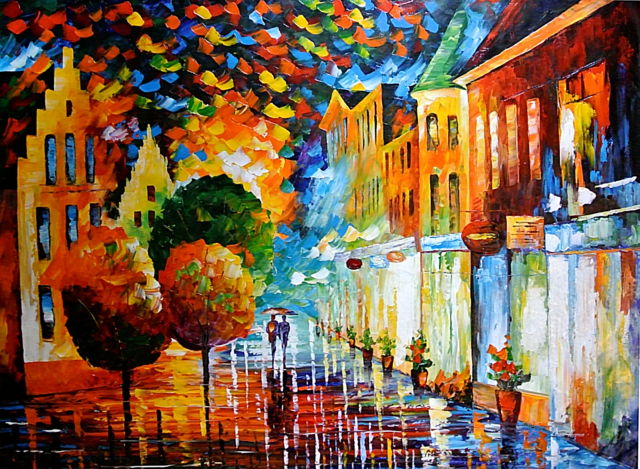 Melody Of The Night — Limited Edition Decor Print On Canvas By Leonid Afremov