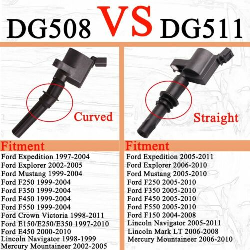 10 Ignition Coils For Ford F150 Expedition 2000-04 5.4//6.8L 2-Valve Engine DG508