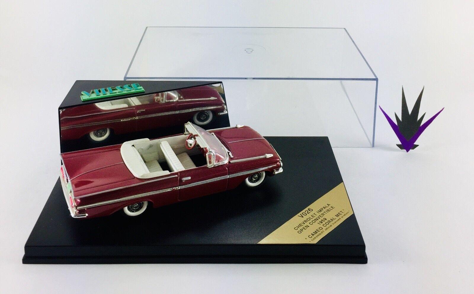 1 43 Chevrolet Impala Open congreenible Cameo Coral 1959 Vitesse