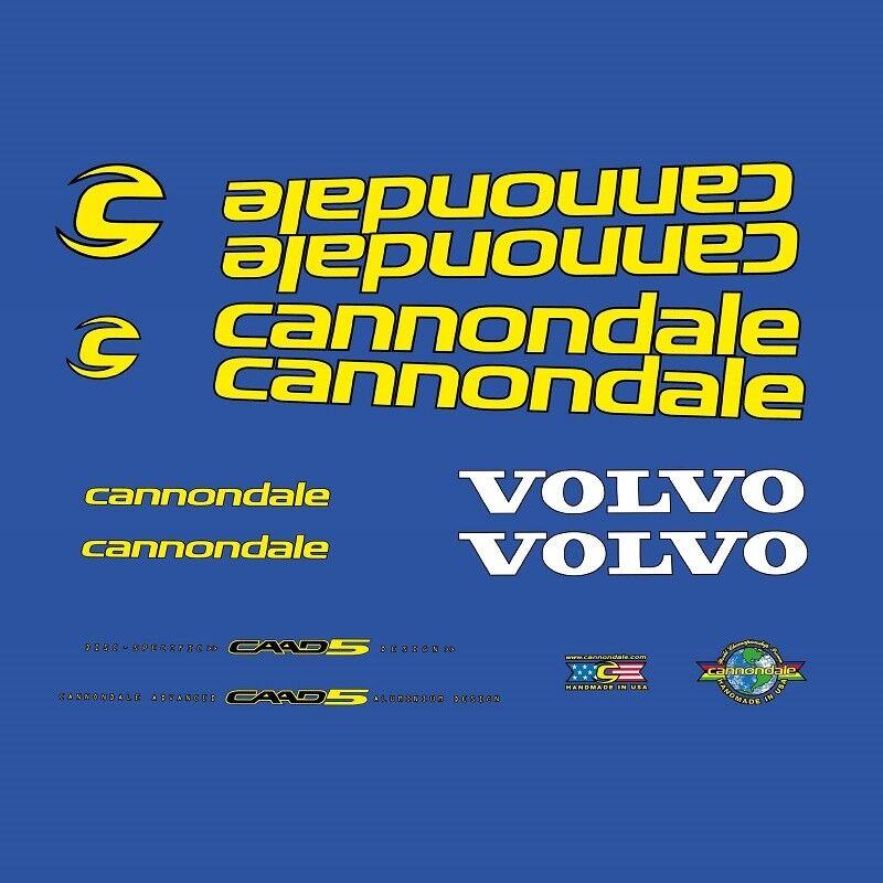 Cannondale Volvo Team CAAD5 CAAD5 CAAD5 Autocollants Vélo, Autocollants N.2020 7b3e38