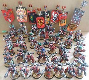 1997 Citadelle Space Marines du Chaos Pro Peint Warhammer 40 000 Armée 40k Traître